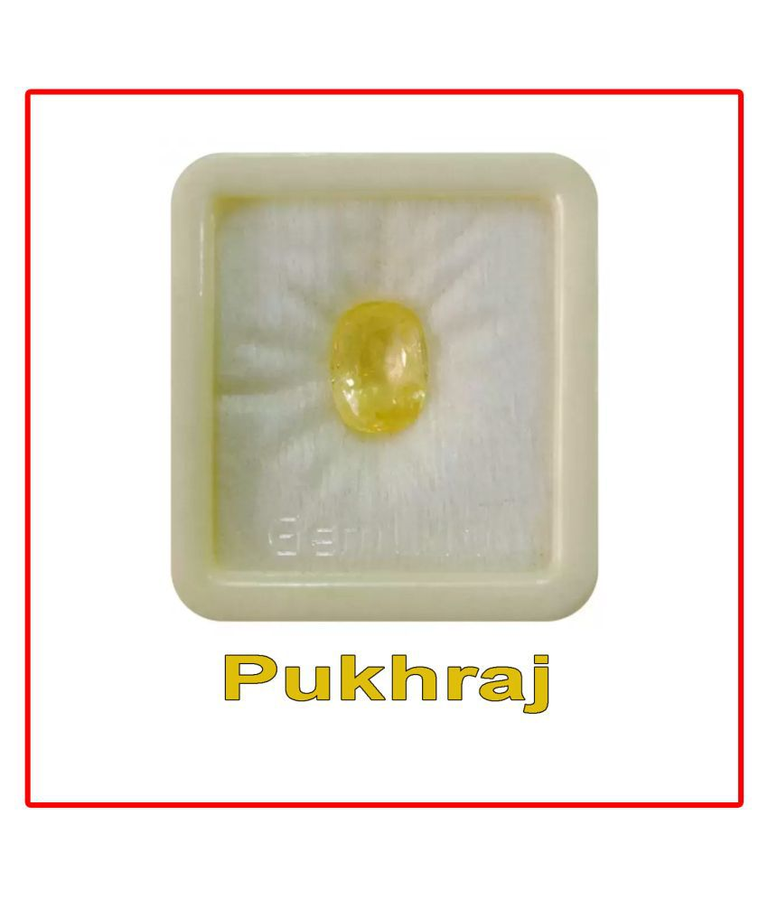 R.K Gems/ Yellow Sapphire Pukhraj 6.50 Ratti Gemstone