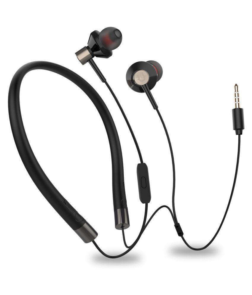UBON EP   75 Neckband Wired With Mic Headphones/Earphones
