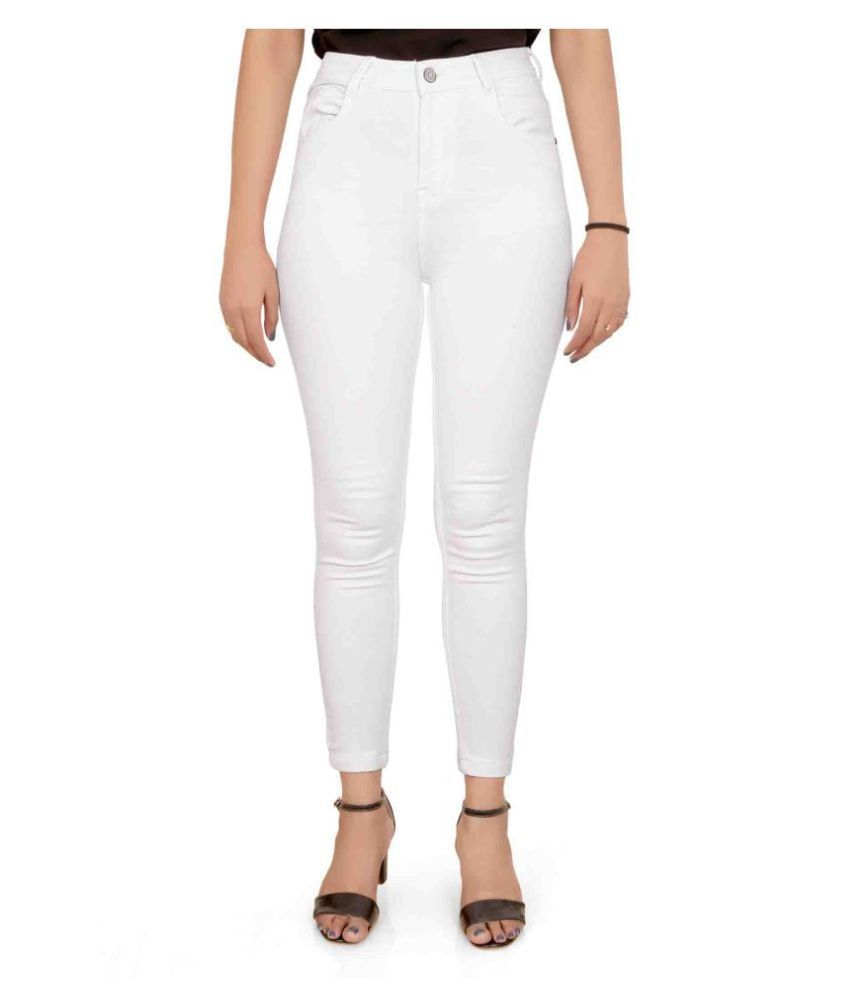 FORTH Denim Lycra Jeans - White