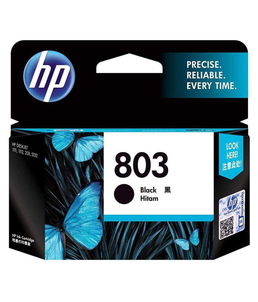 HP 803 Small Ink Cartridge  Black