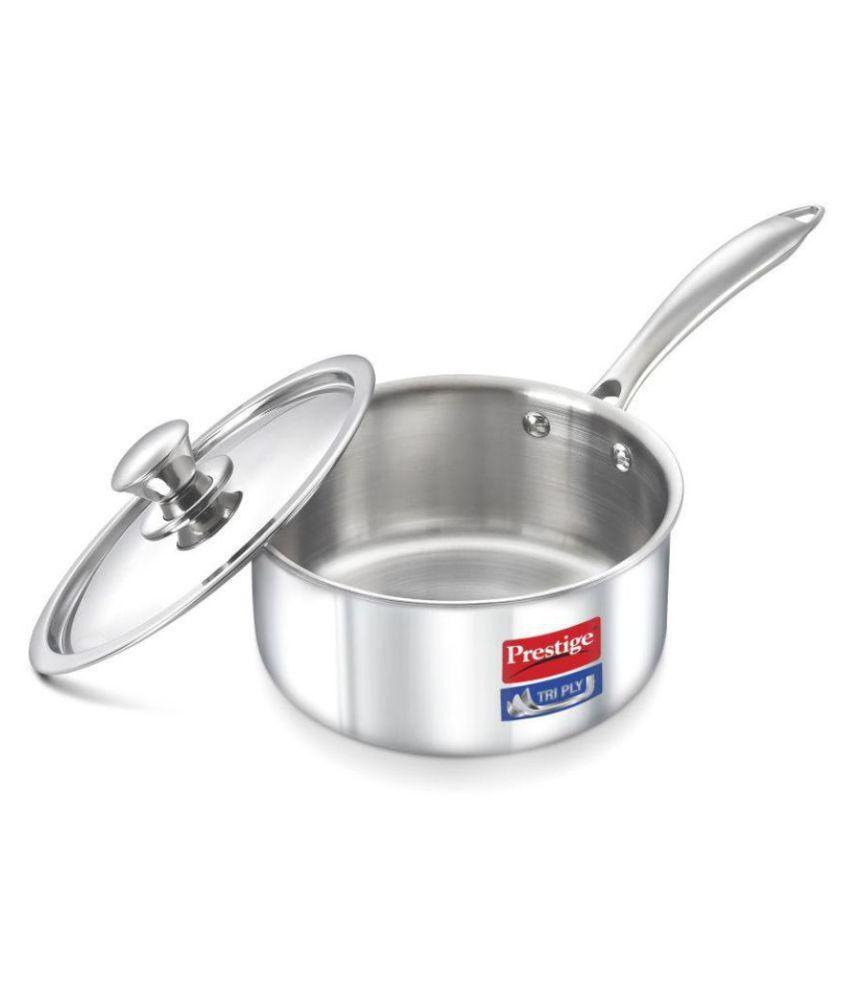 Prestige No Coating Stainless Steel Sauce Pan 14 cm mL