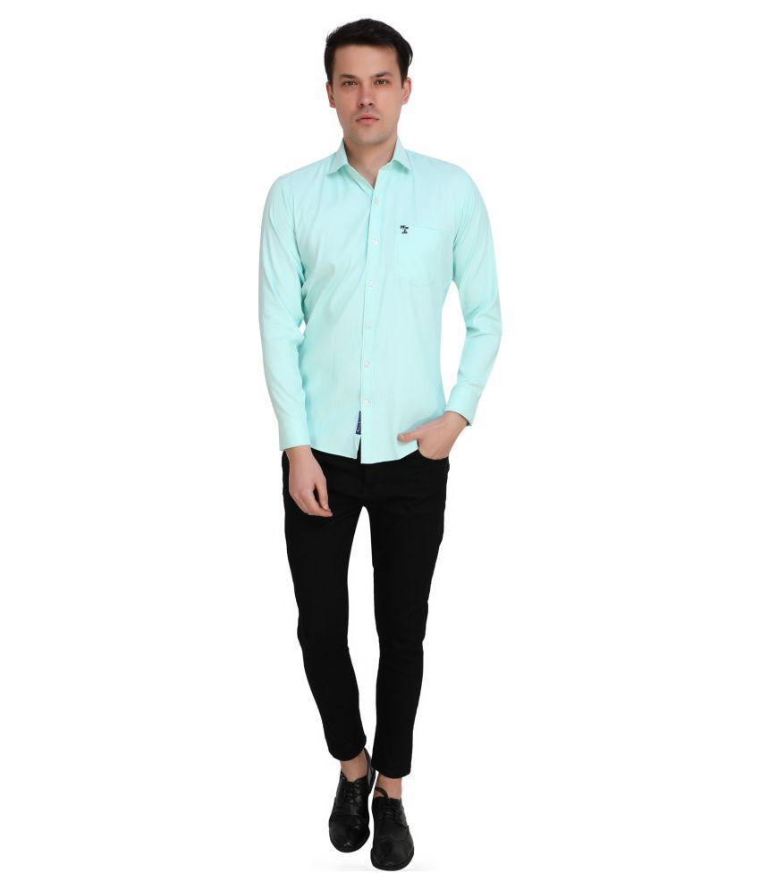 HaveLock Cotton Blend Blue Shirt