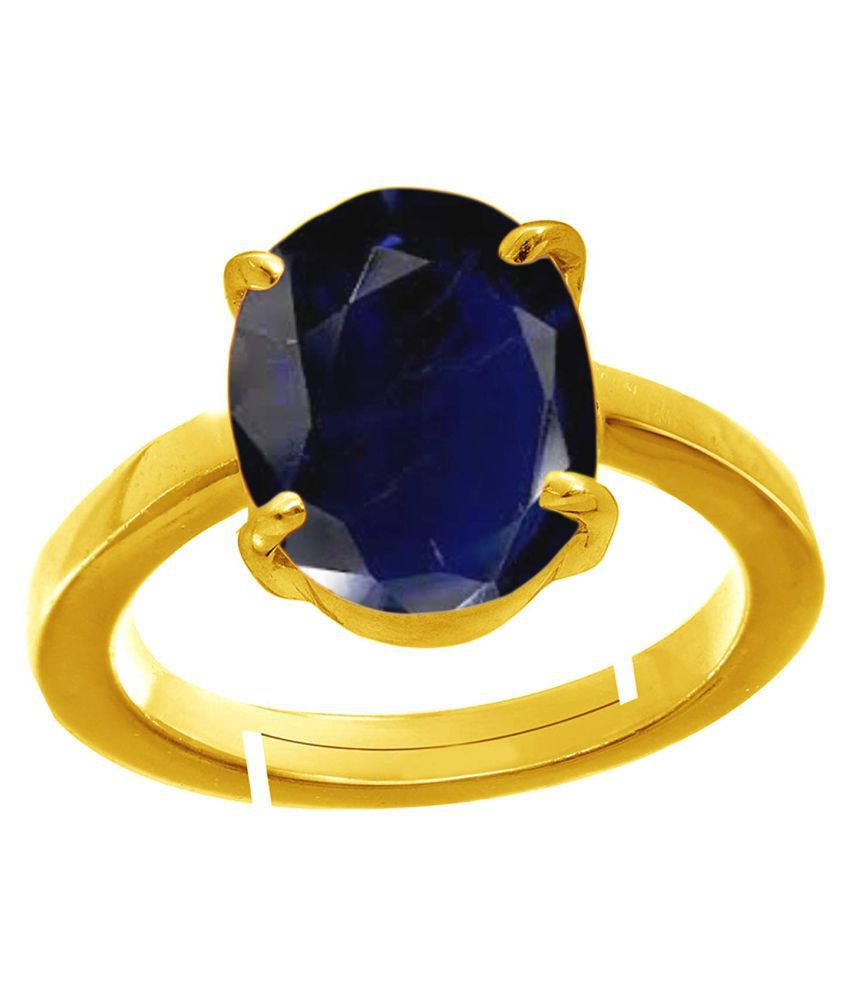 Todani Jems® 6.25 Ratti 5.62 Carat Natural Certified Blue Sapphire Neelam Ring for Men and Women
