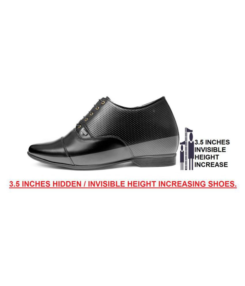BXXY Black Height Increasing shoes
