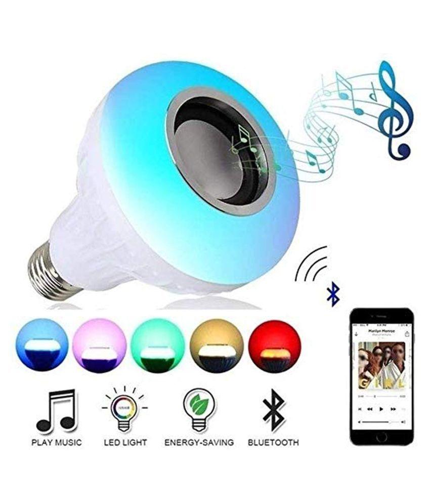 LED Light Bulb, Smart 12W E27 LED Bluetooth 3.0 Speaker Music Bulb