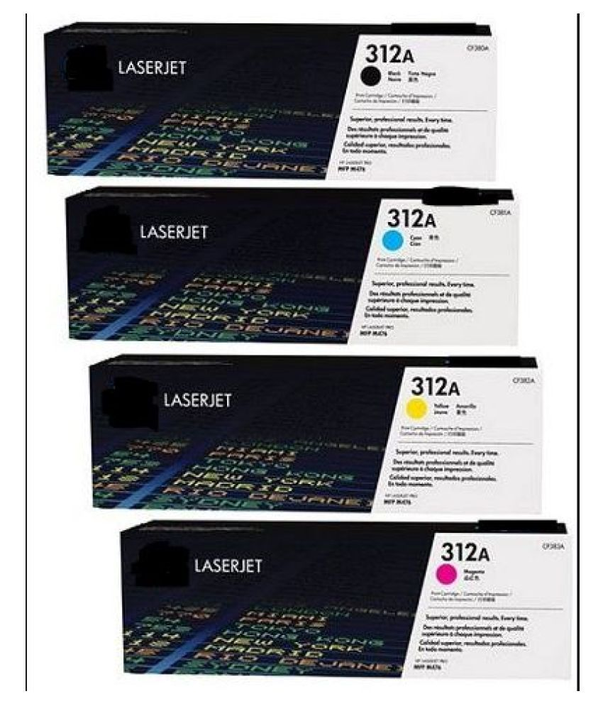 MHP CF 380A   312A   Color Pack of 4 Toner for HP 312A   CF380A   Toner CartridgePack Of 4 For use Color LaserJet Pro M476dn,M476dw, M476nw MFP