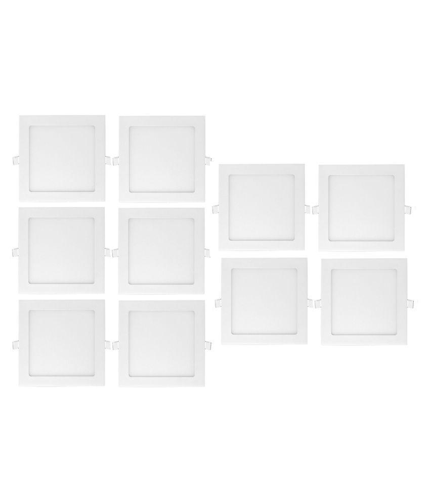 D'Mak 12W Square Ceiling Light 14.5 cms. - Pack of 10