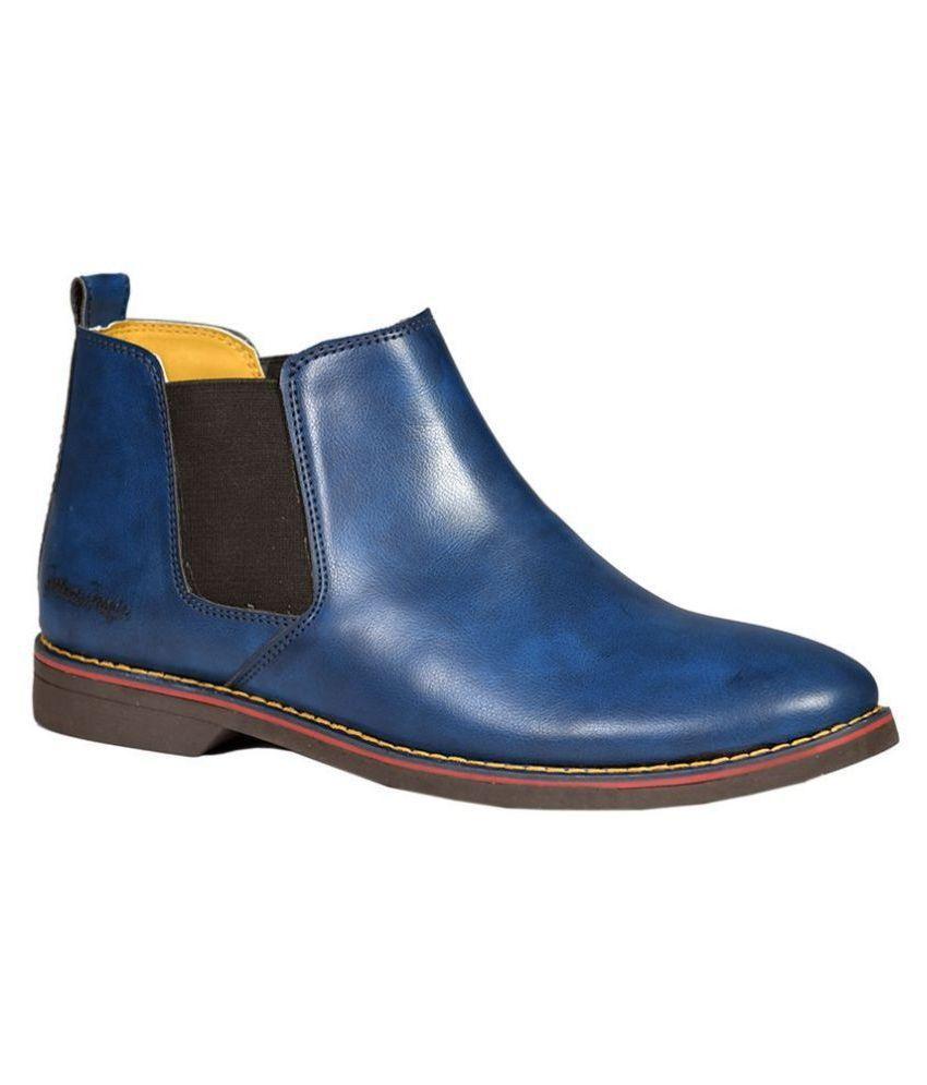 SIMATA Blue Chelsea boot