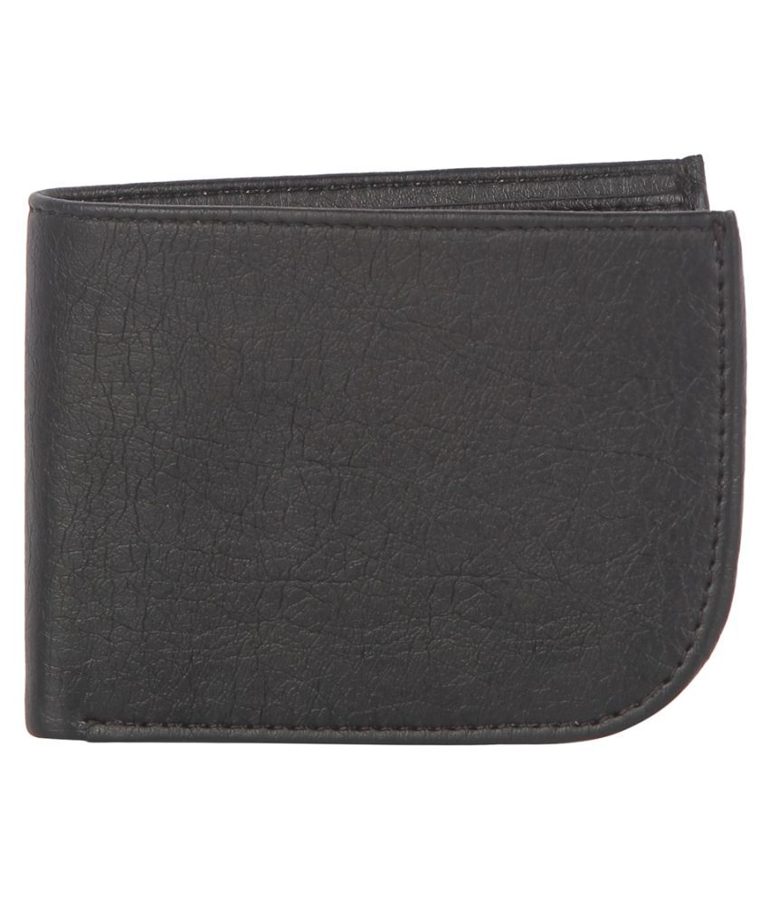 Contra PU Black Fashion Regular Wallet