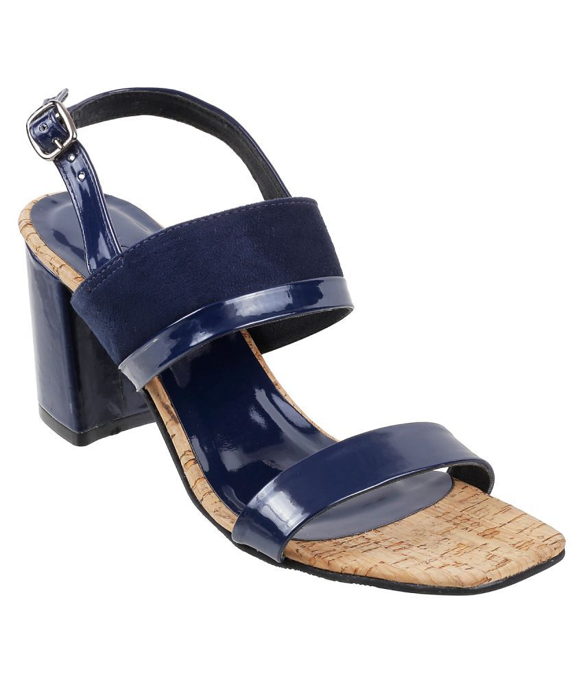 Mochi NAVY Block Heels