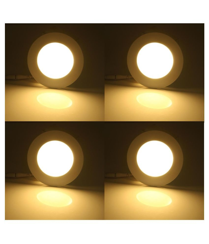 D'Mak 6W Round Ceiling Light 9.6 cms. - Pack of 4