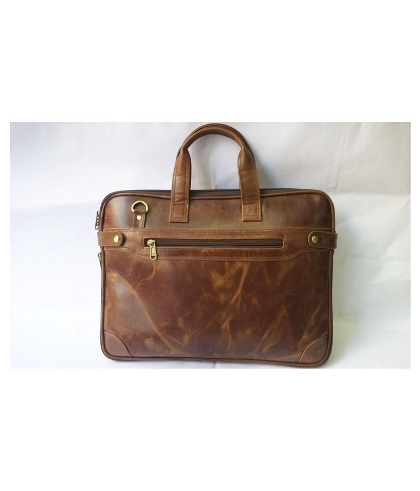 Ma Fierte Brown Leather Office Bag