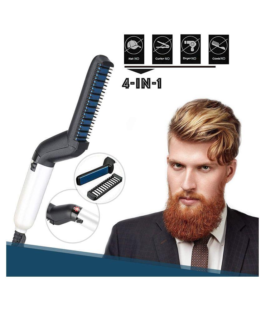 SHARUJA Beard Straightener Hair Straightener ( Balck & Blue )