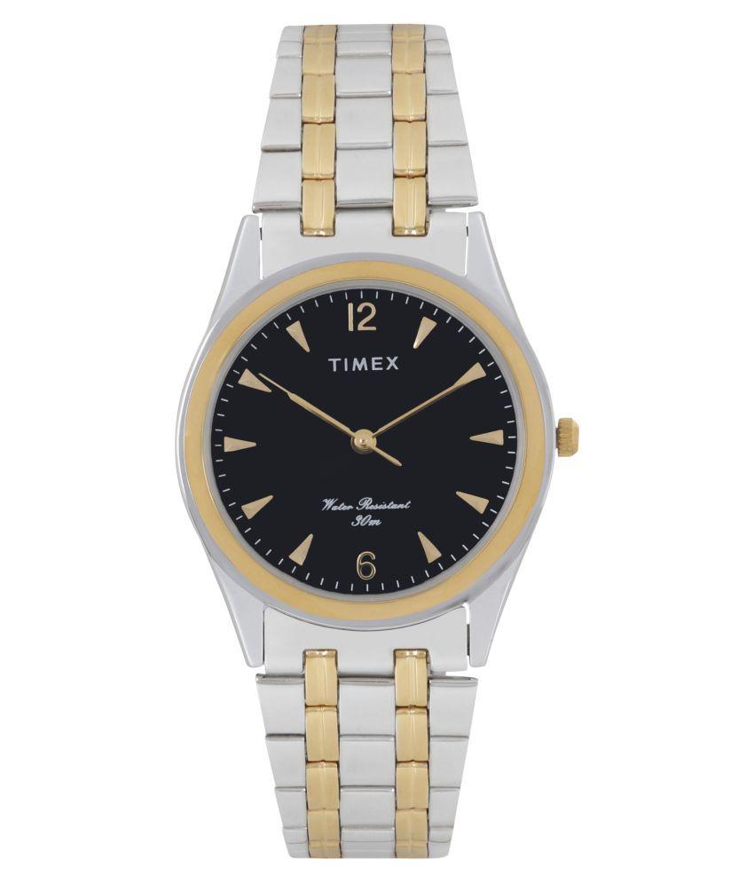 Timex TW000BQ12 Stainless Steel Analog Men #039;s Watch
