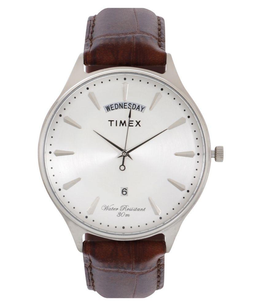 Timex Analog Silver Dial Men #039;s Watch TWEG16900