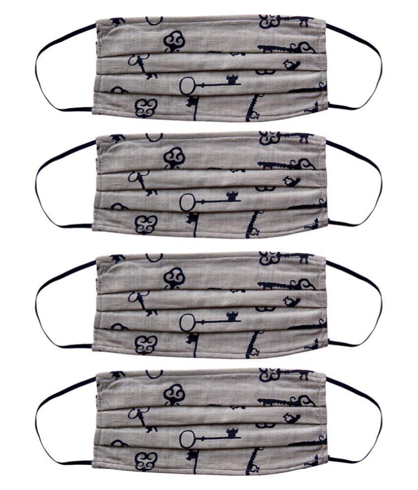 Voylla Fashionista washable 4 Face Masks Fold flat Dust Masks