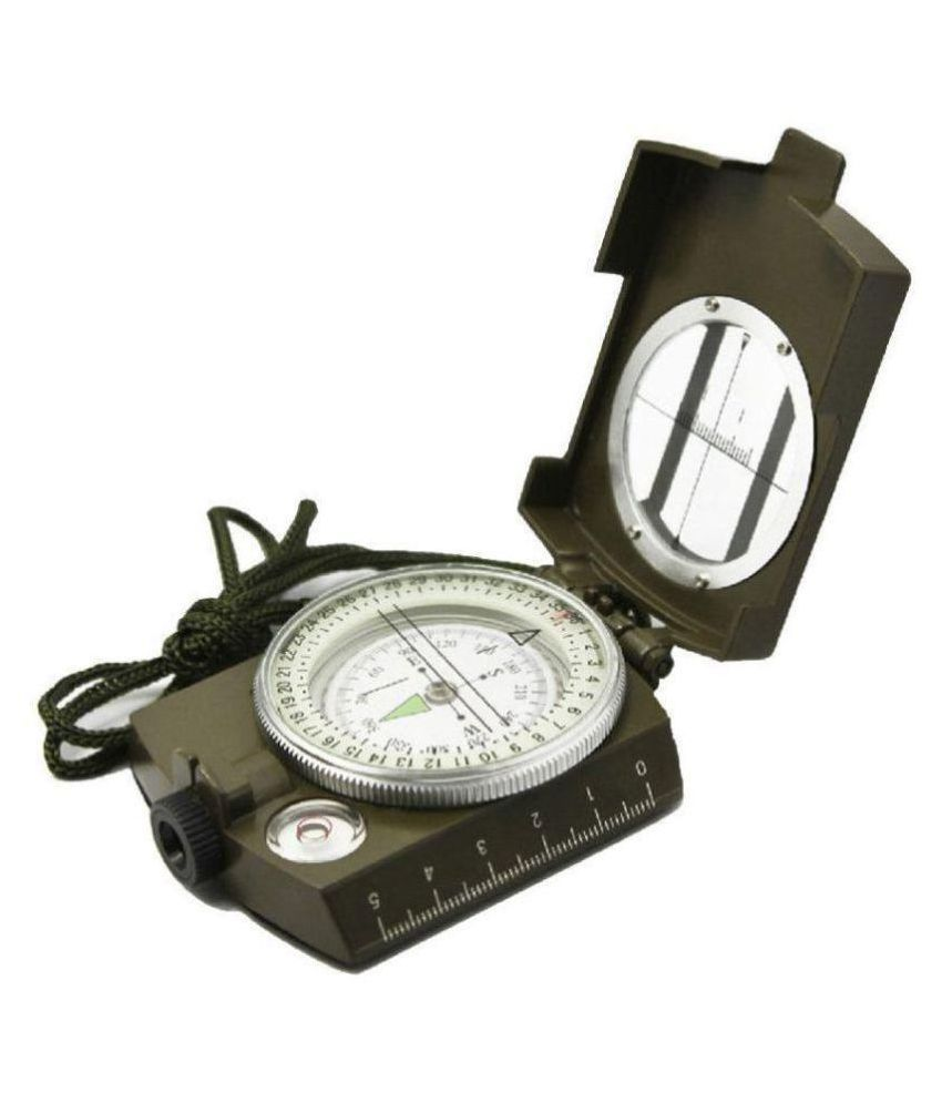 Rangwell  totam Professional Multifunction Military Army Metal Sighting Compass High Accuracy Waterproof - Green Color