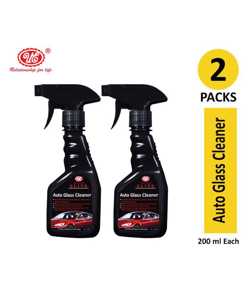 UE Elite Glass Cleaner, Removes All Stains, Grime and Fingerprints For All Vehicle and Multi Purpose Use - 200 ml (Pack of 2)