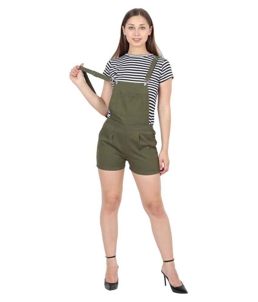 FineCreations Green Cotton Jumpsuit