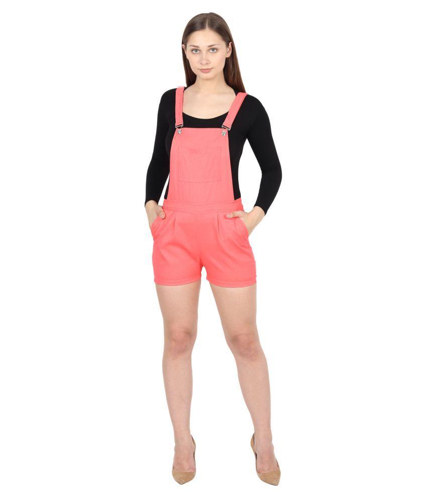 FineCreations Pink Cotton Jumpsuit