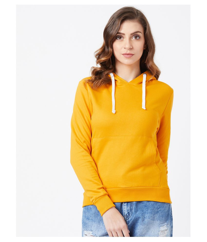 The Dry State Cotton Yellow Hooded Sweatshirt