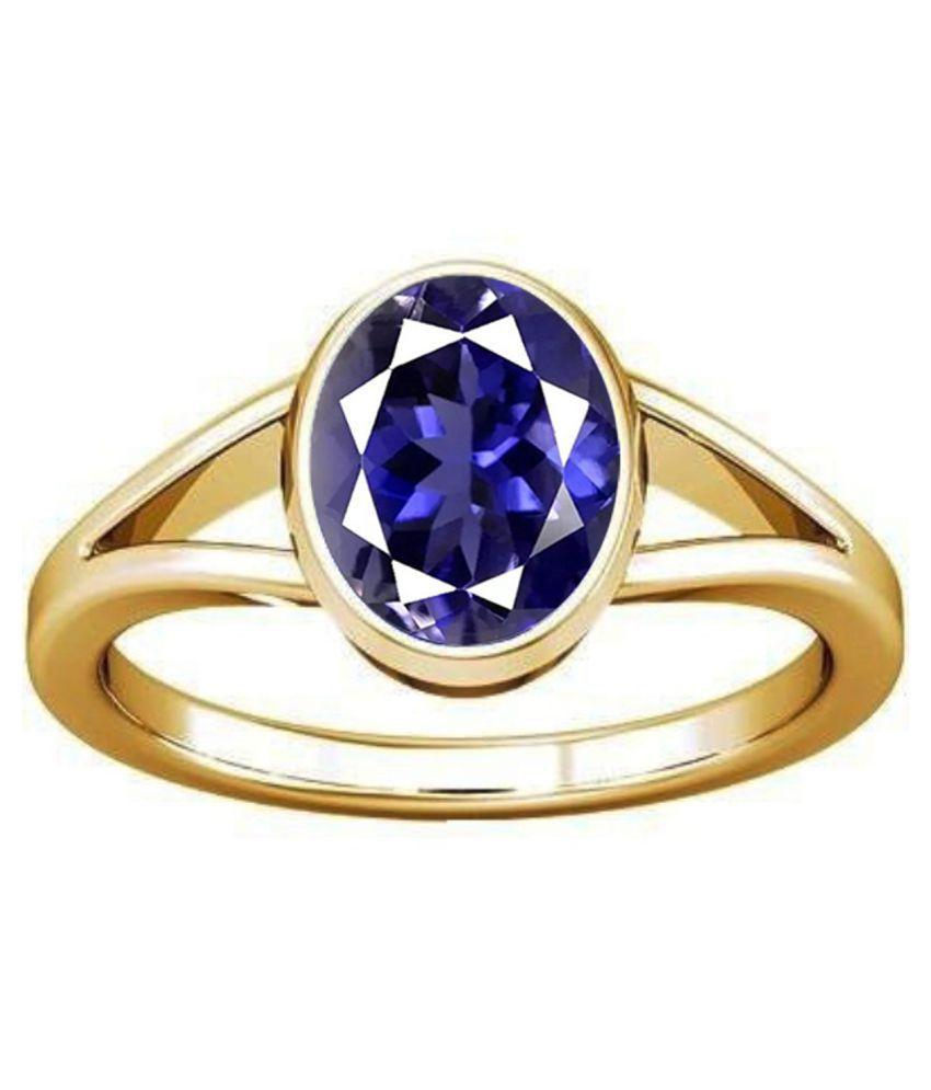 Divya Shakti 7.25-7.50 Ratti Iolite/Neeli Panchadhatu Ring Natural AAA Quality Gemstone