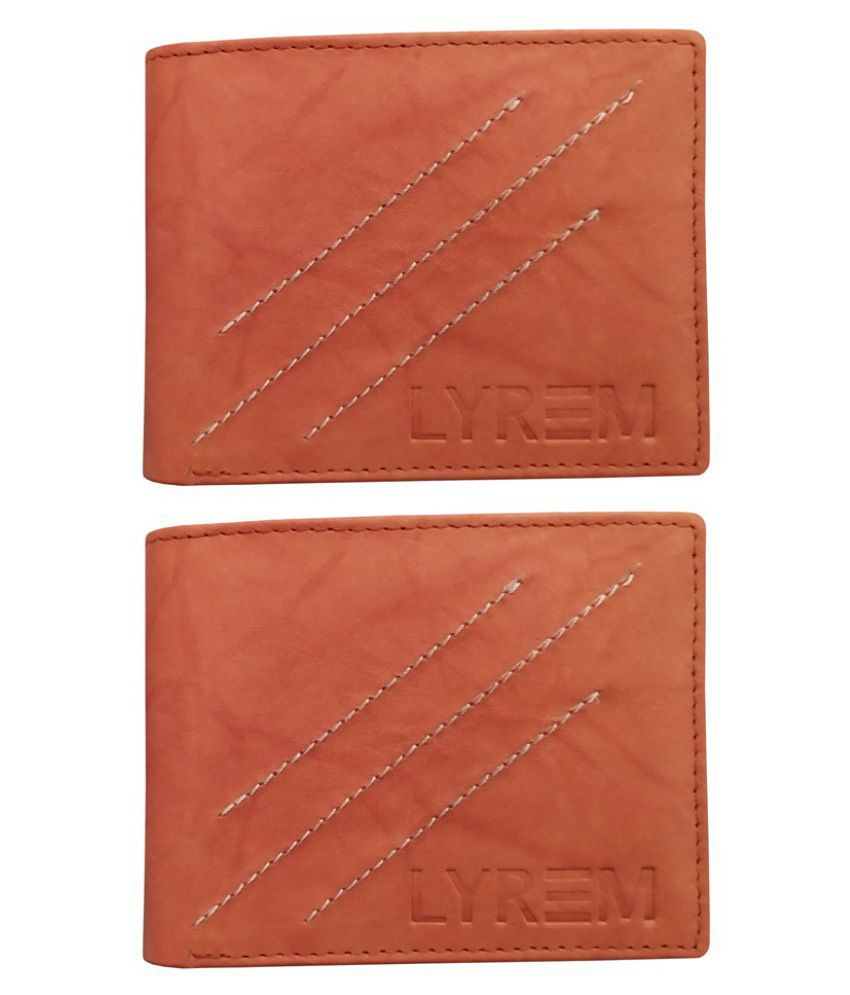 LYREM Leather Tan Casual Regular Wallet