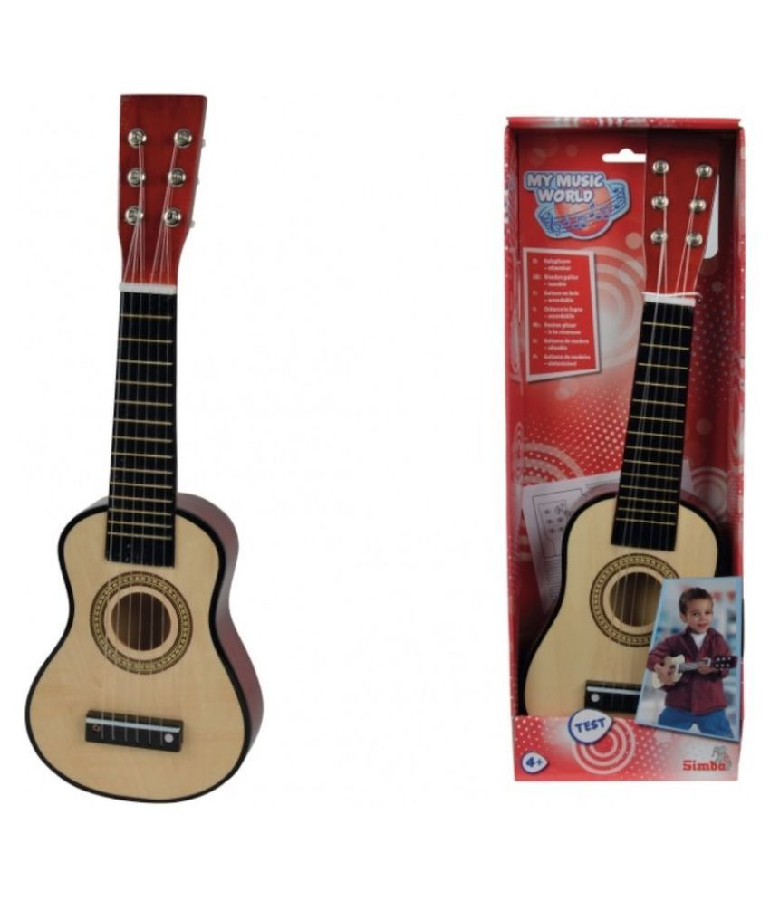 Simba My Music World Wooden Guitar, Multi Color