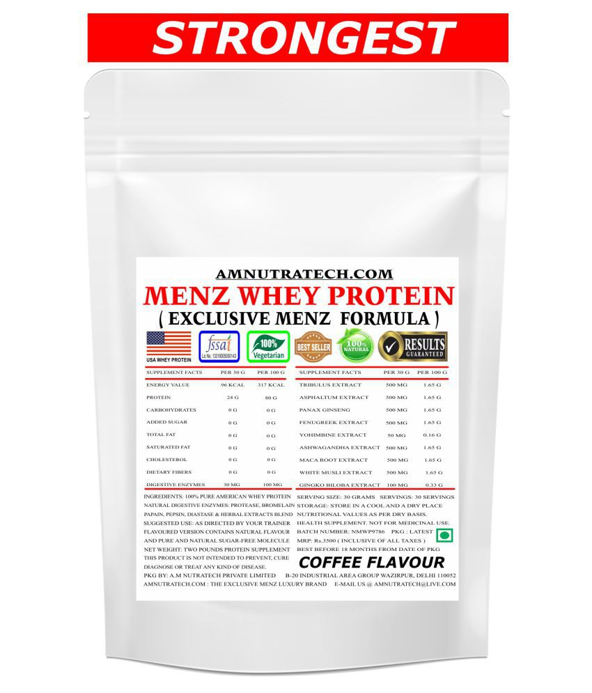 AM NUTRATECH Men Whey Protein ( Coffee Flavour ) 2 lb