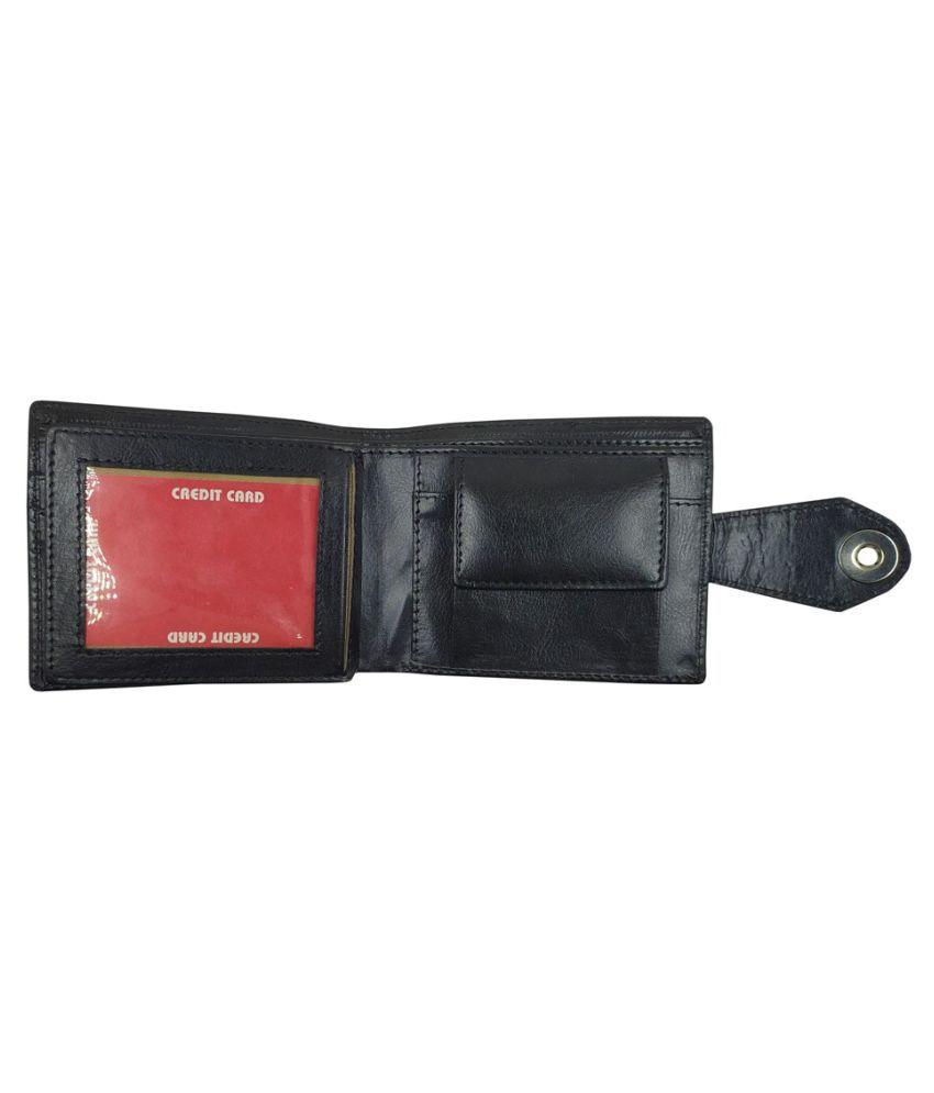 LYREM PU Black Sport Regular Wallet