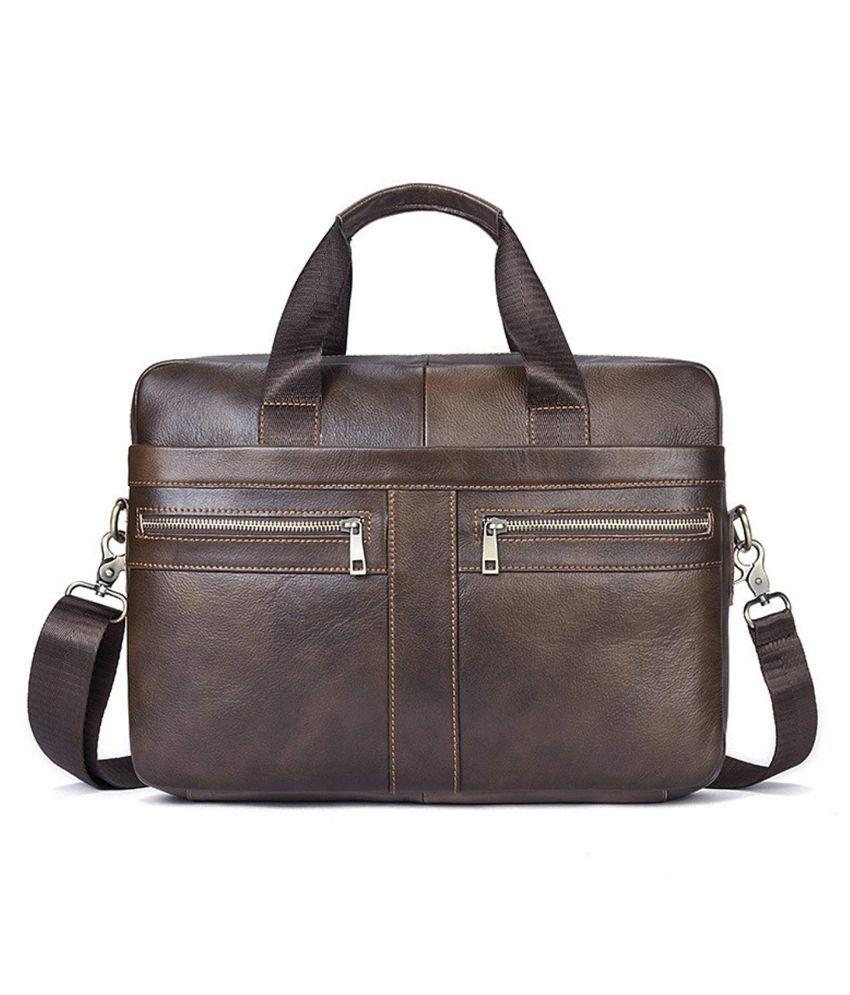 House Of Quirk Shoulder Messenger Brown Leather Office Bag