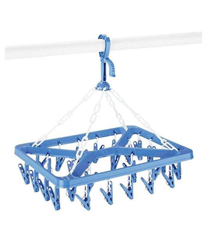 ROLLYWARE Plastic Multipurpose Square 24 Clip Hanger for Baby Clothes (Multicolour)