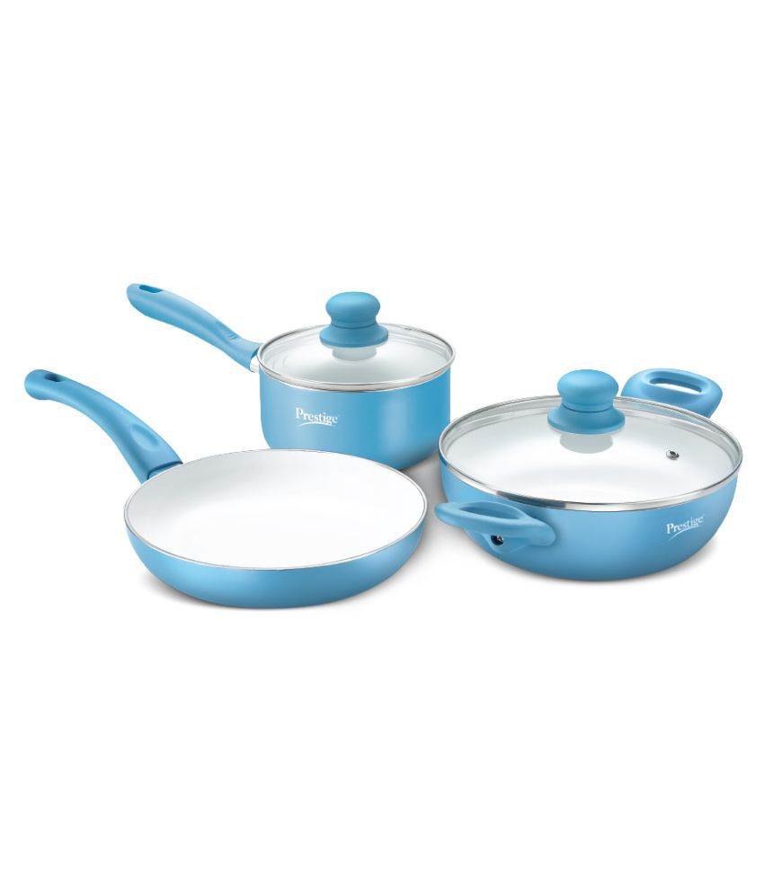Prestige Luxe Ceramic 3 Piece Cookware Set