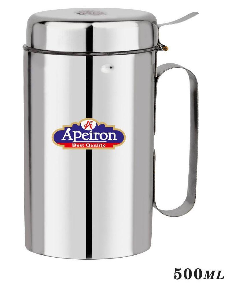 APEIRON Steel Oil Container/Dispenser Set of 1 500 mL