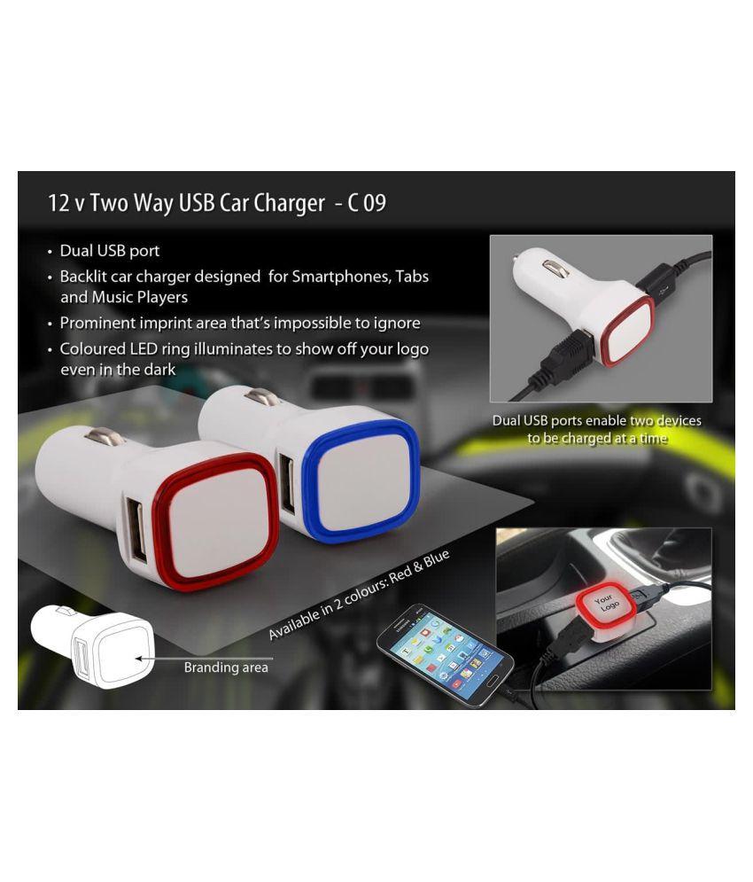 Kanojia Enterprise Car Mobile Charger 2.0Amp Dual Port White