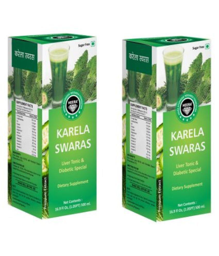 HEERA Karela Swaras Ayurvedic Liquid 500 ml Pack Of 2