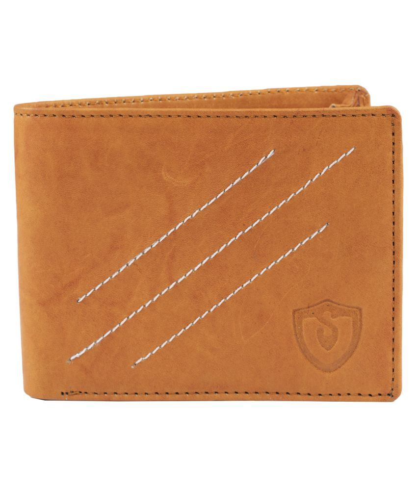 Keviv Leather Tan Casual Regular Wallet