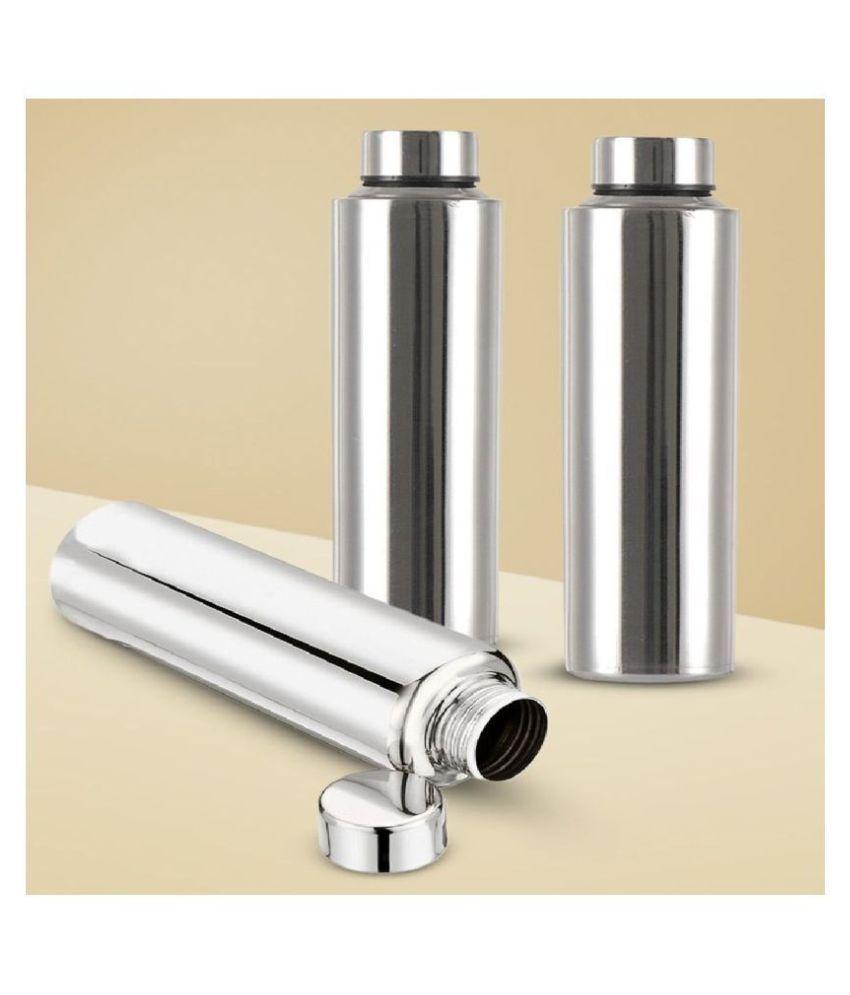 AKG Fridge Silver 1000 mL Steel Water Bottle set of 3