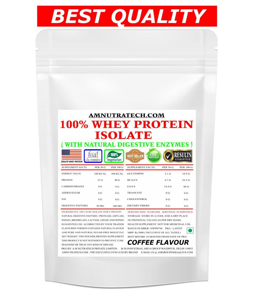 AM NUTRATECH Iso Whey Protein ( Coffee Flavour ) 2 lb