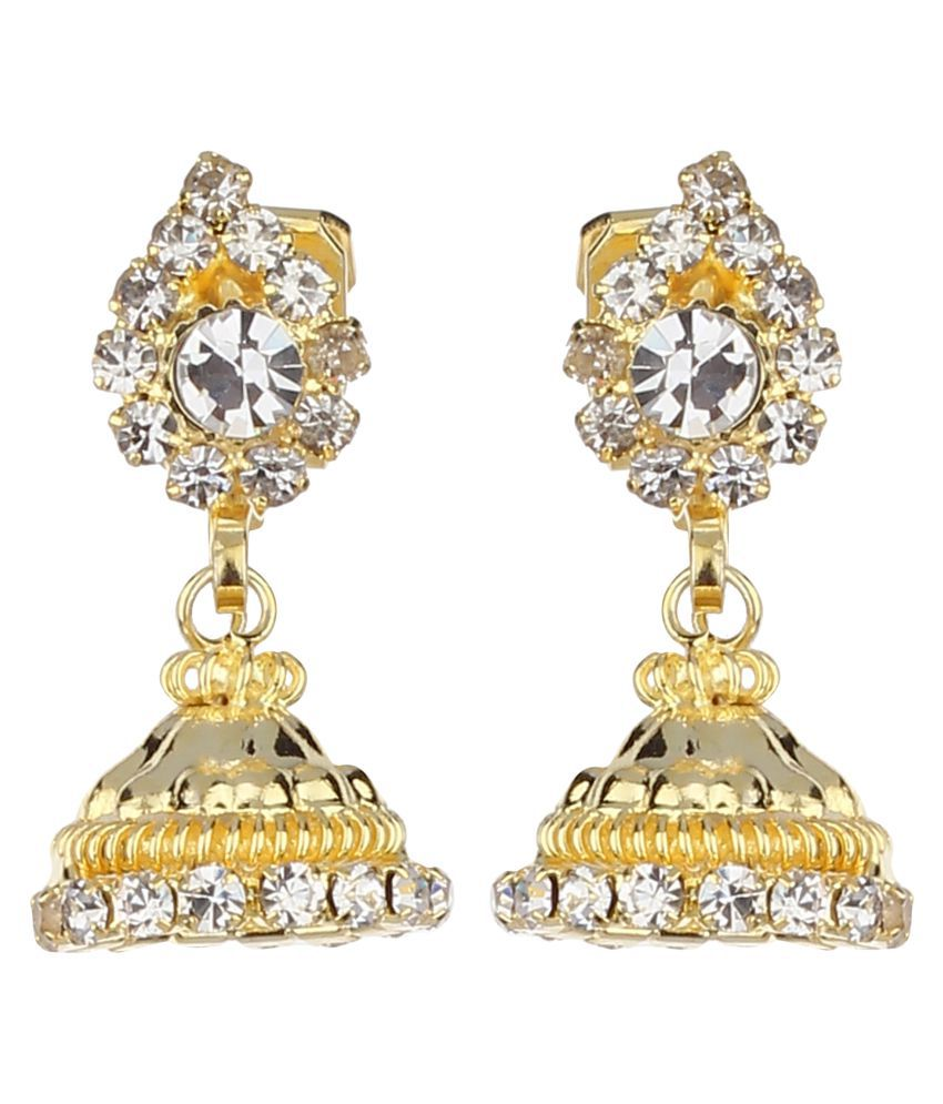 FirstBlush Clip-on Earrings for Non Pierced Ears for Girls / Women (Gold) (MIEC003M030)
