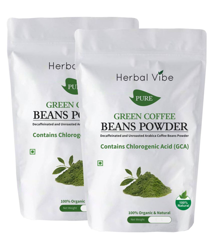 Herbal Vibe Green Coffee Beans Powder for Weight Loss 200 gm Natural Pack of 2