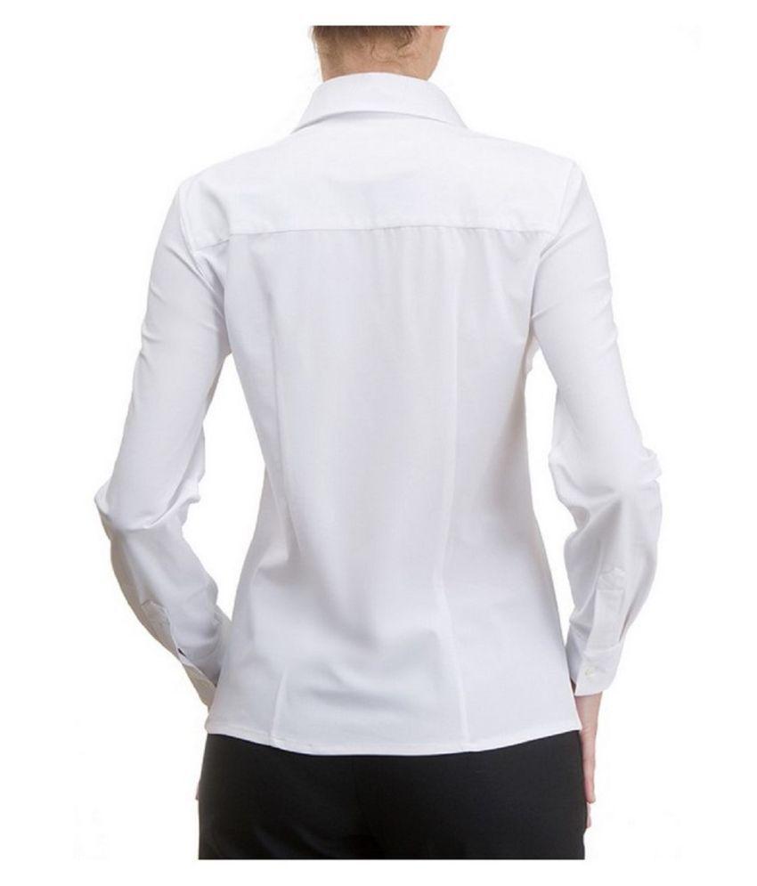 Black Horse White Cotton Shirt