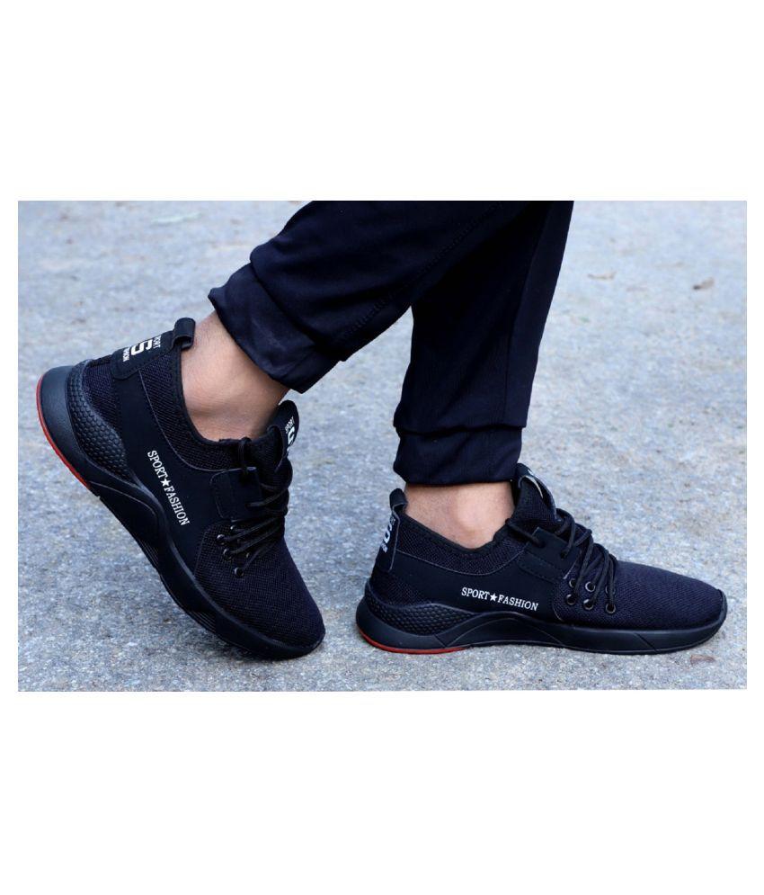 Aadi Black Casual Shoes