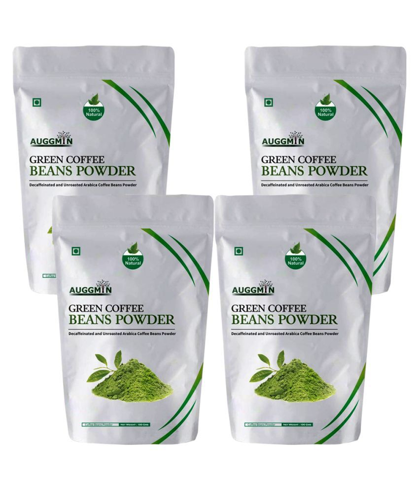 Auggmin Green Coffee Powder 400 gm Natural Pack of 4