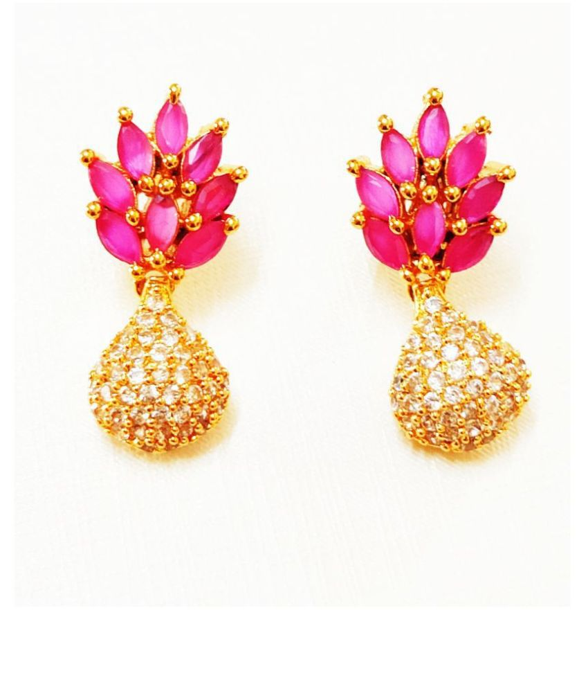 SRI SAI - ONE GRAM GOLD PLATED STYLISH AD EARINGS FOR GIRLS AND WOMENS