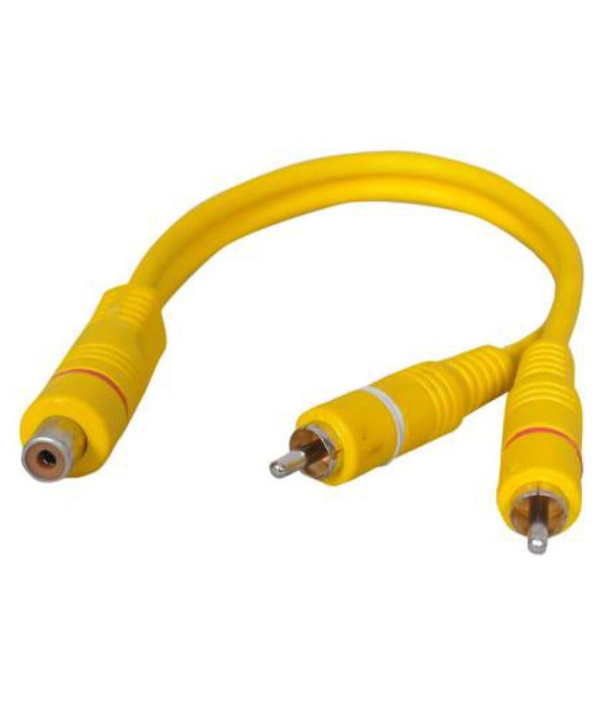 CRYSTONICS 2 RCA Male to 1 RCA Cables   0.2