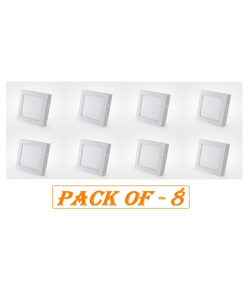 D'Mak Surface 15W Square Ceiling Light 16.2 cms. - Pack of 8