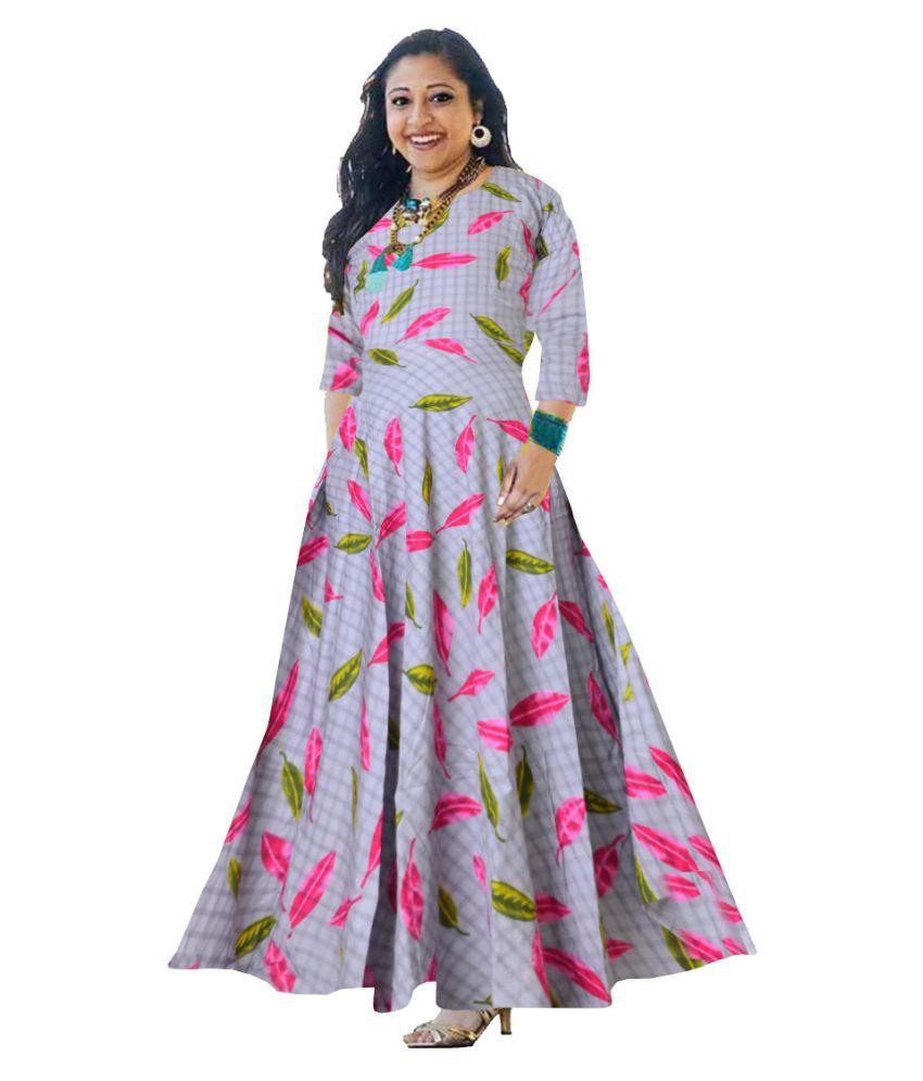 JWF Rayon Grey A- line Dress