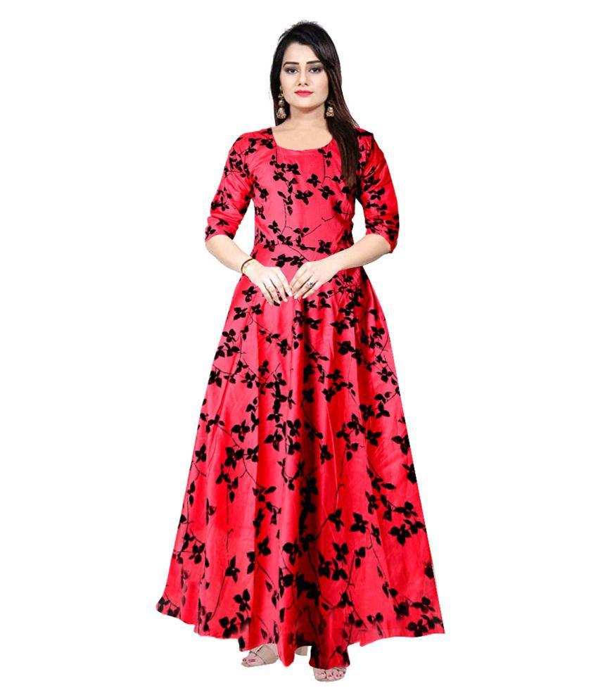 JWF Rayon Pink A- line Dress