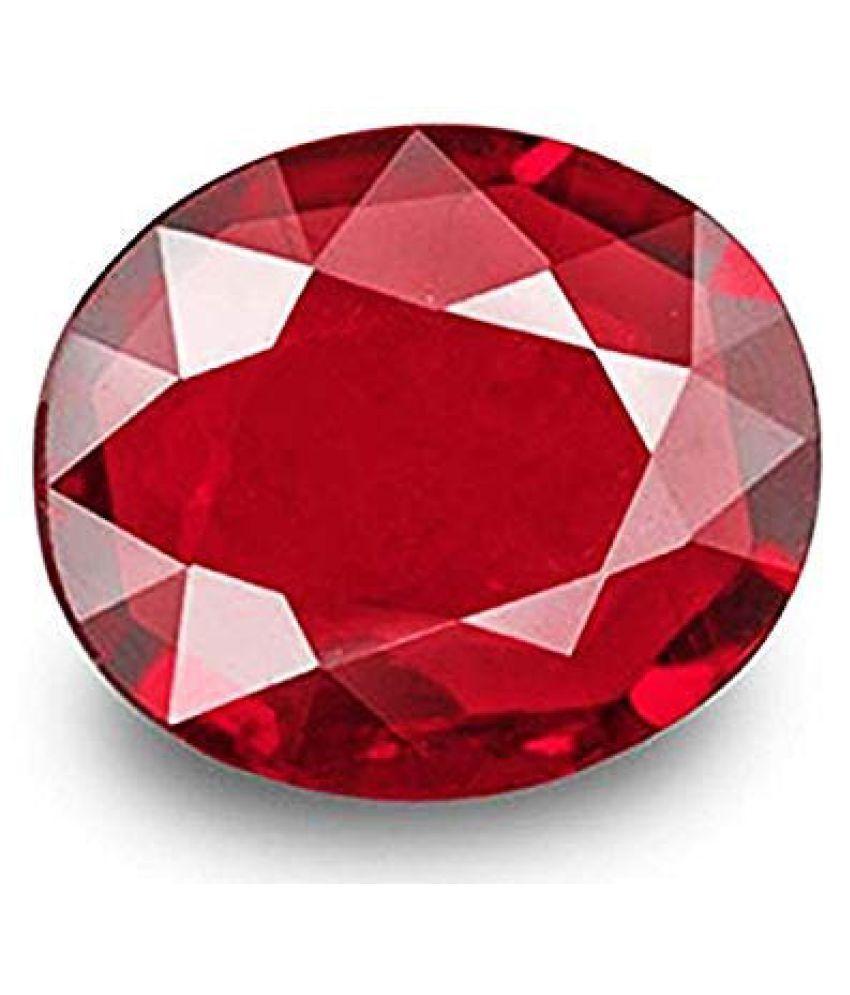 GEMS WORLD 9.25 Ratti Ruby Stone Manik Stone Certified Natural Loose Gemstone